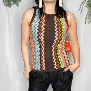 MISSONI TARGET knit sleeveless shell sweater 0384